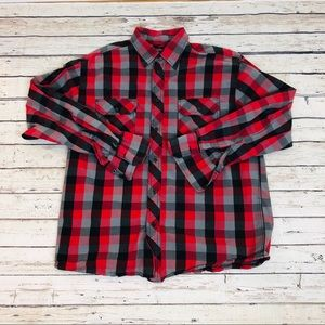 Eighty Eight men's shirt Button Down plaid red